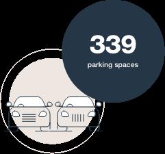 339 parking spaces
